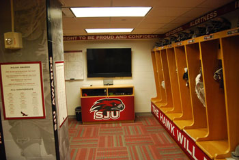The Locker Room Is Conveniently Located Right Inside Front Doors Of Hagan Arena And Creates A Great Environment For Team To Truly Enjoy Being